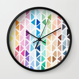 Colour Triangle Pattern Wall Clock