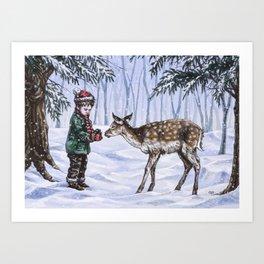 A Holiday Gift Art Print