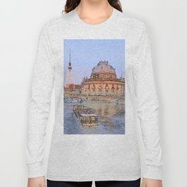 Berlin Spree Bode Museum and Alexander tower Long Sleeve T-shirt
