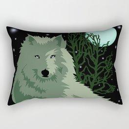 Wolf Vector Animals Rectangular Pillow