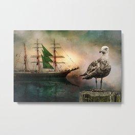 Harbor life Metal Print