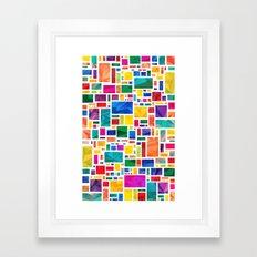Polygonal Map Framed Art Print