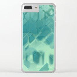 future fantasy turquoise Clear iPhone Case