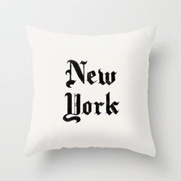 New York (Watercolor) Throw Pillow