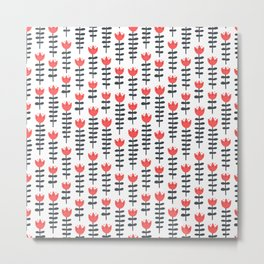 red flowers pattern Metal Print
