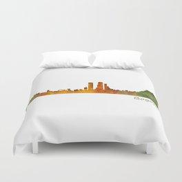 Bogota City Skyline Hq V1 Duvet Cover