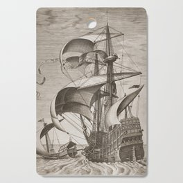 Vintage Ship Art II - Nautical Decor Cutting Board