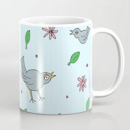 Birds Flowers Leaves & Berries Coffee Mug