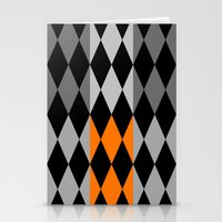 orange pattern Stationery Cards featuring Pattern orange by LoRo  Art & Pictures