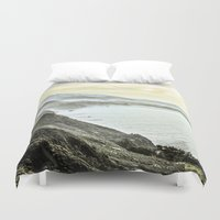 big sur Duvet Covers featuring Somewhere over Big Sur. by samisiura