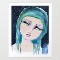 jane davenport Art Prints featuring Dreamer by Jane Davenport by Jane Davenport