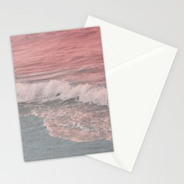 Pink Waves Beach Stationery Cards