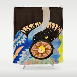 Earth, Wind and Sea Shower Curtain