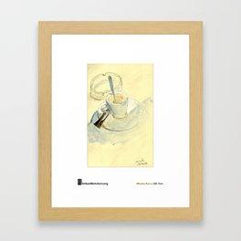 "Nicolas Kern, ""Barcelone, Café en terrasse"" Framed Art Print"