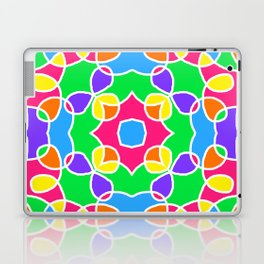 Rainbow Mosaic Symmetrical Swirls Kaleidoscope 2 Laptop & iPad Skin