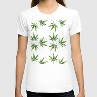 marijuana T-shirts featuring Marijuana Leaves  by Limitless Design