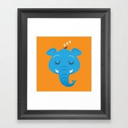 Sleepy Elephant Framed Art Print