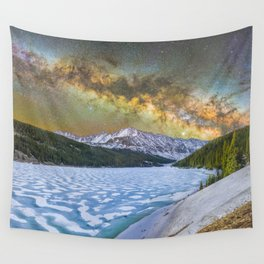 Milky way over Clinton reservoir Wall Tapestry