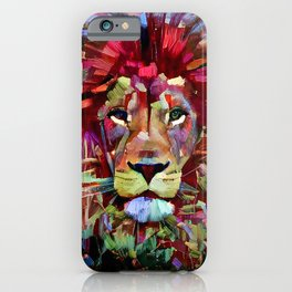Colorful Lion Painting iPhone Case