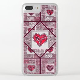 Big hearted Love (red) Clear iPhone Case