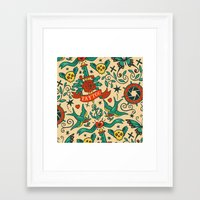 tattoos Framed Art Prints featuring Tattoos by Illuminany