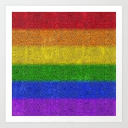 Rainbow Glitter Gradient Art Print