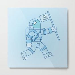 McAstronaut (Blue) Metal Print