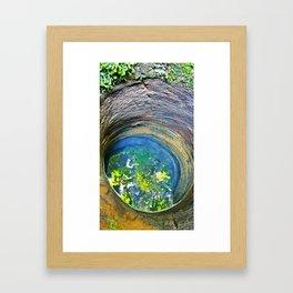 well wishing Framed Art Print
