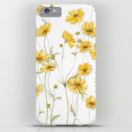 Yellow Cosmos Flowers iPhone Case