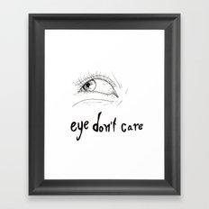 eyes don't lie 03 Framed Art Print