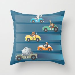 The Great Animal International Invitational Race Throw Pillow