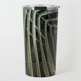 Tropical Palm Print Multi-Colored Travel Mug