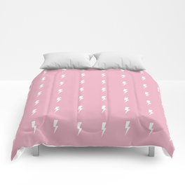 Pink Lightning Flash Comforters