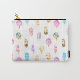 Dolce vita || watercolor ice cream summer pattern Carry-All Pouch