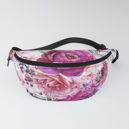 Roses and Peonies Collage Fanny Pack