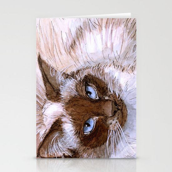 Birman Cat 561 Stationery Cards