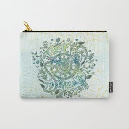 Time To Read - Watercolor Green Carry-All Pouch