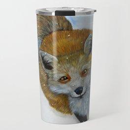 Fox and Chickadee Travel Mug