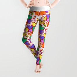 Color Hearts Leggings
