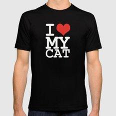 I love my cat Mens Fitted Tee Black MEDIUM
