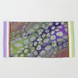 ORGANIC TIME TRAVELERS RIVER ROCKS ABSTRACT Beach Towel
