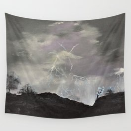 Trouble over the prairies Wall Tapestry