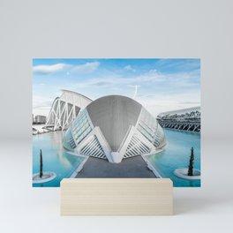 Valencia - The Hemisfèric in city of Arts and Sciences by Calatrava Mini Art Print