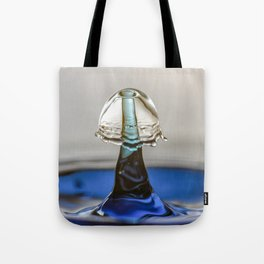 Blue liquid mushroom 5994 Tote Bag
