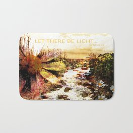 Let There Be Light Christian Artwork Bath Mat