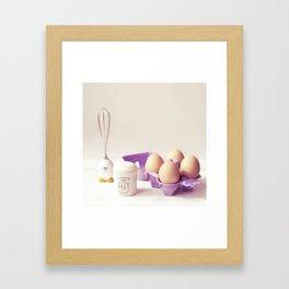 Egg moments Framed Art Print