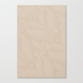 Pantone Hazelnut Fancy Leaves Scroll Damask Pattern Canvas Print