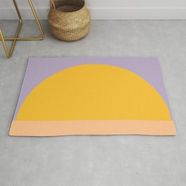 Retro Sunset - Bright Vibrant Colors Rug