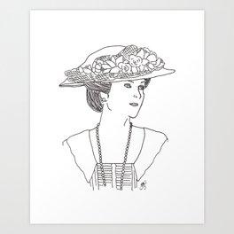 Mary Crawley Art Print