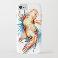 koi fish iPhone & iPod Cases featuring Koi Fish by Sam Nagel